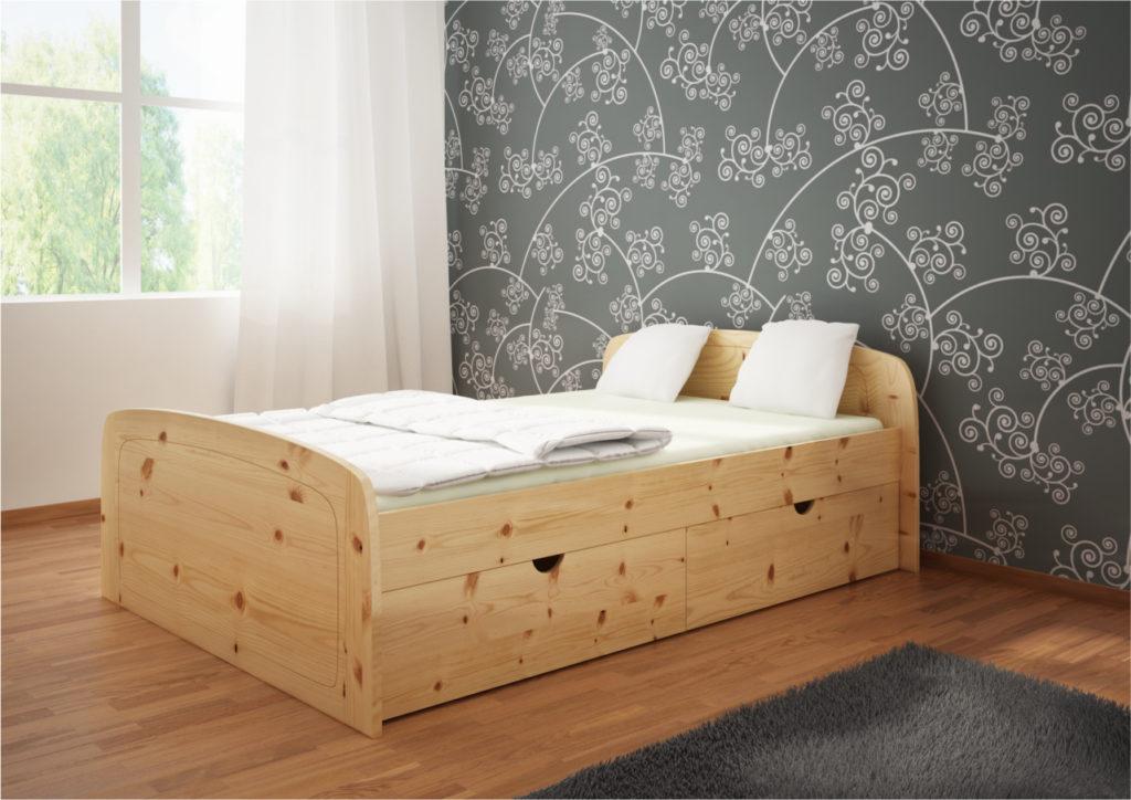 Łóżko sosnowe Jaśmin