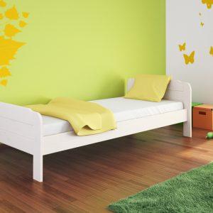Białe łóżko sosnowe Nova
