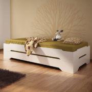 Białe łóżko sosnowe Karl