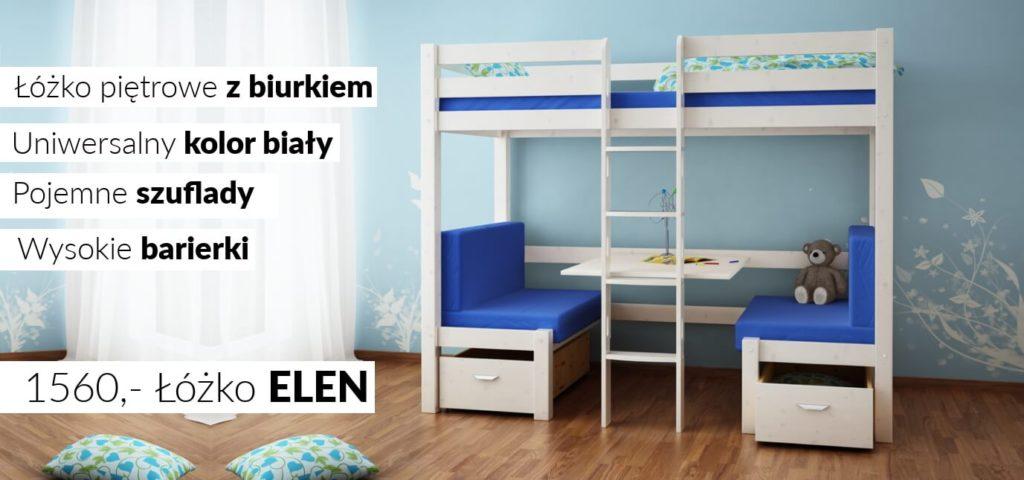 białe łóżko pietrowe szczecin