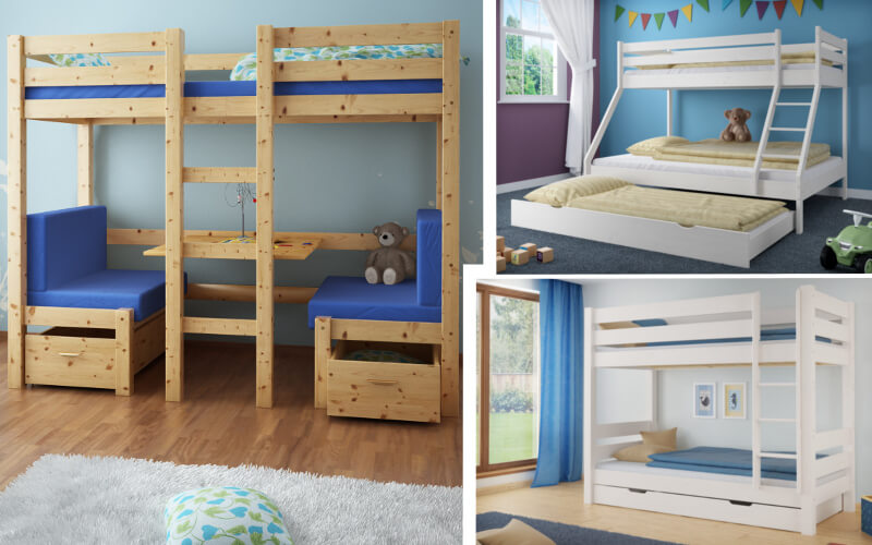 Łóżko piętrowe dla dzieci   Producent mebli z drewna