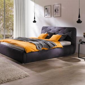 Łóżko tapicerowane z pojemnikiem LUNA