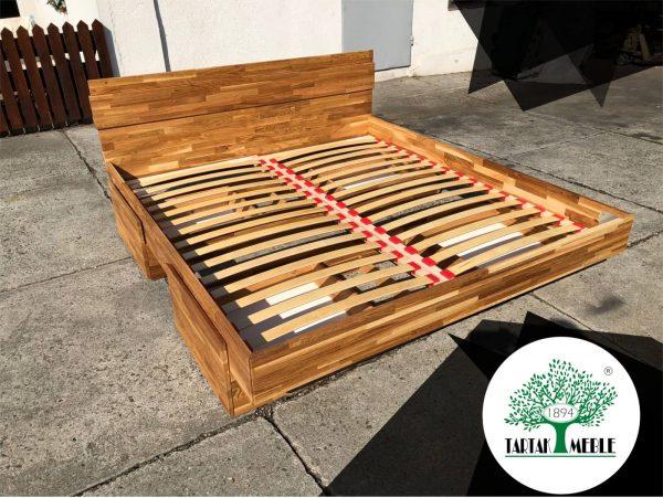 łóżko dębowe z pojemnikami Toledo