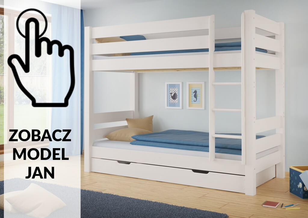 białe łóżko piętrowe szczecin