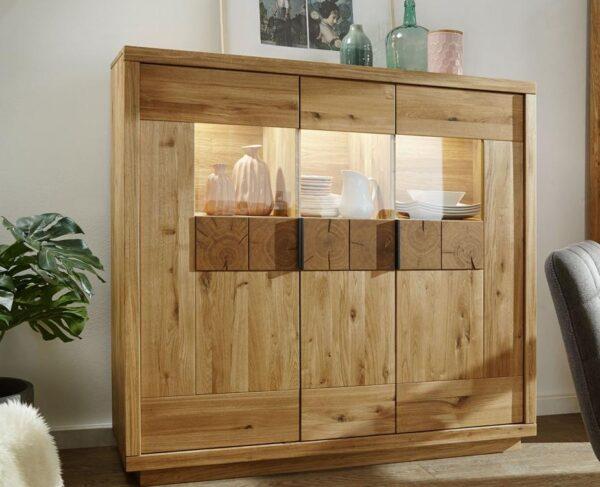 debowa komoda drewniana
