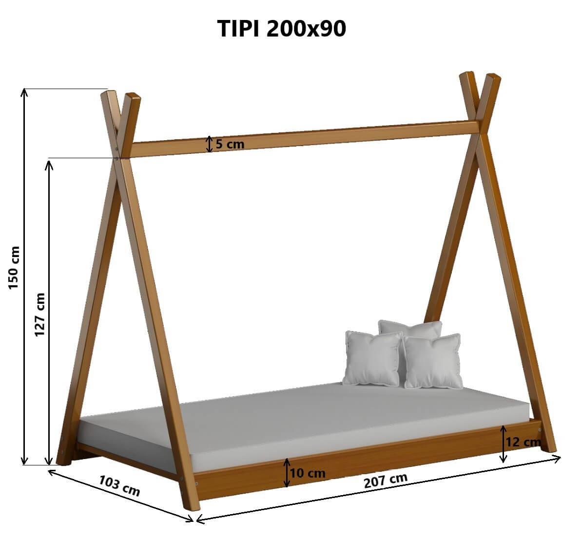 Tipi łóżko