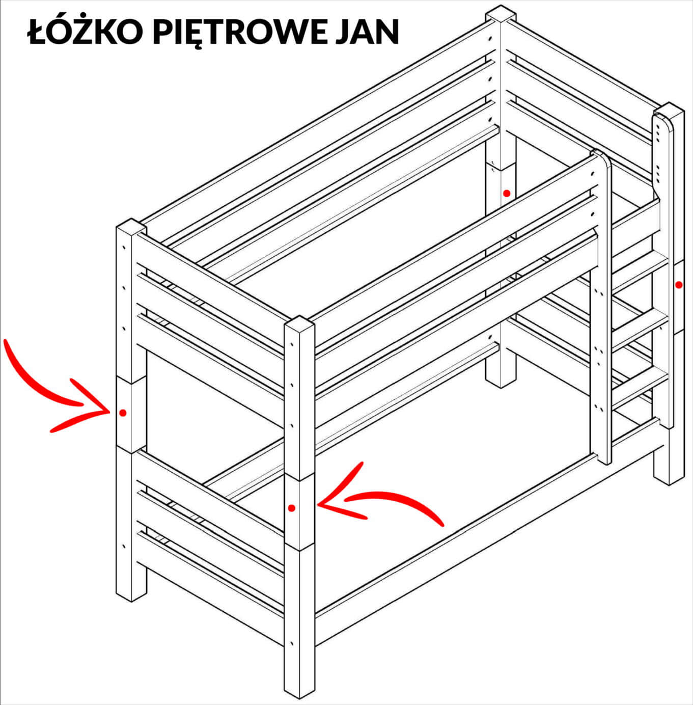 konstrukcja łóżka piętrowego