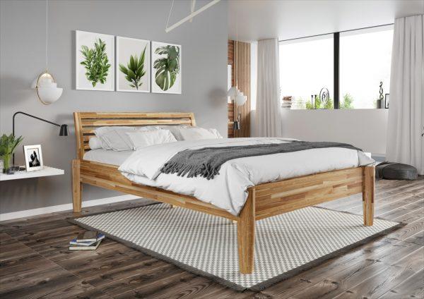 nowoczesne łóżko drewniane do sypialnii