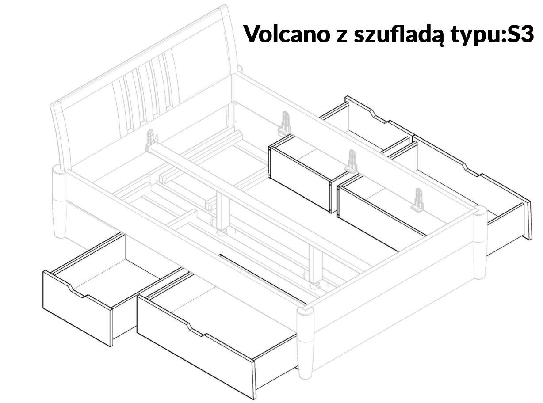 łóżko dębowe z szufladami sypialnia