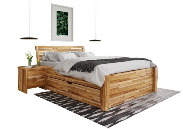 łóżko modułowe z szufladami dąb