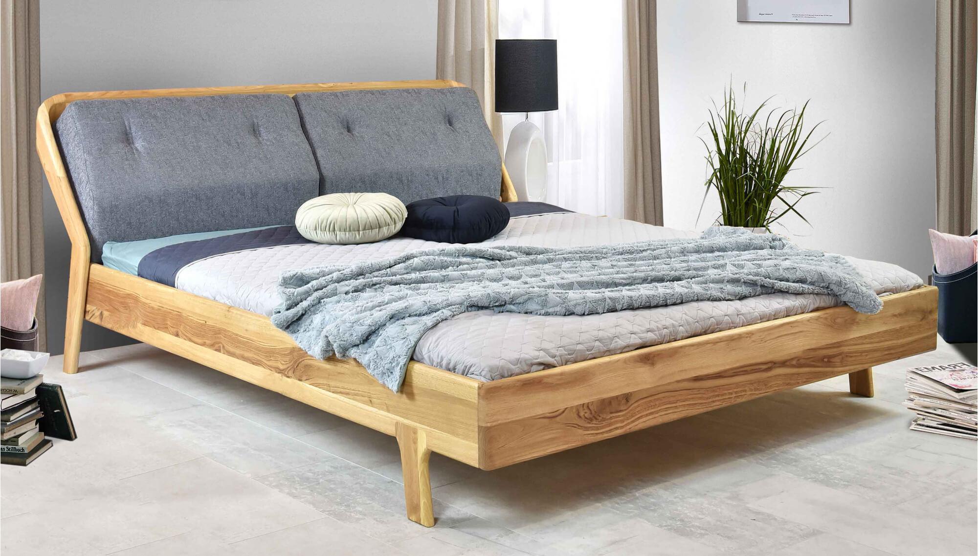 designerskie lozko drewniane